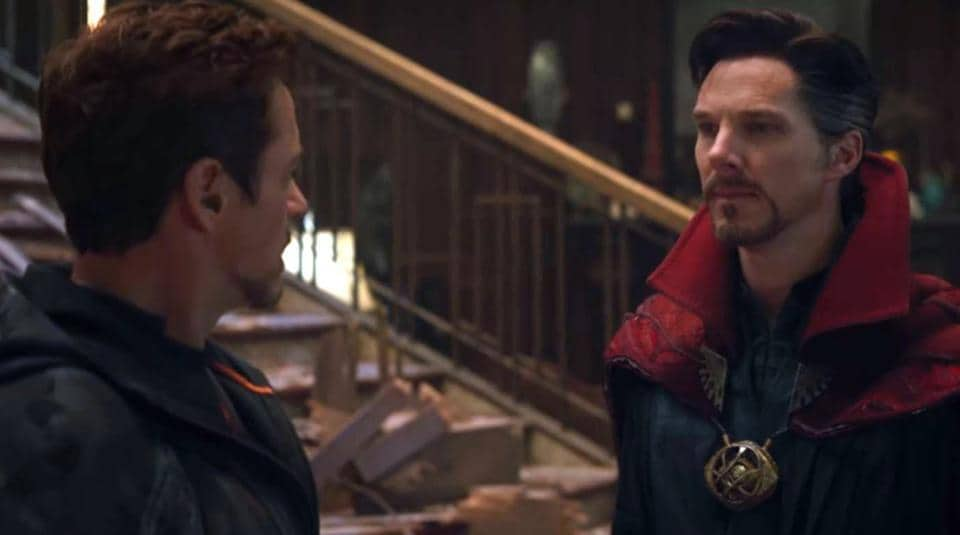It's the run-in we all waited for. RobertDowney Jr and Benedict Cumberbatch in Avengers: Infinity War.