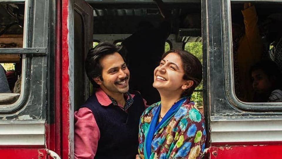 Varun Dhawan and Anushka Sharma in a still from Sui Dhaaga.