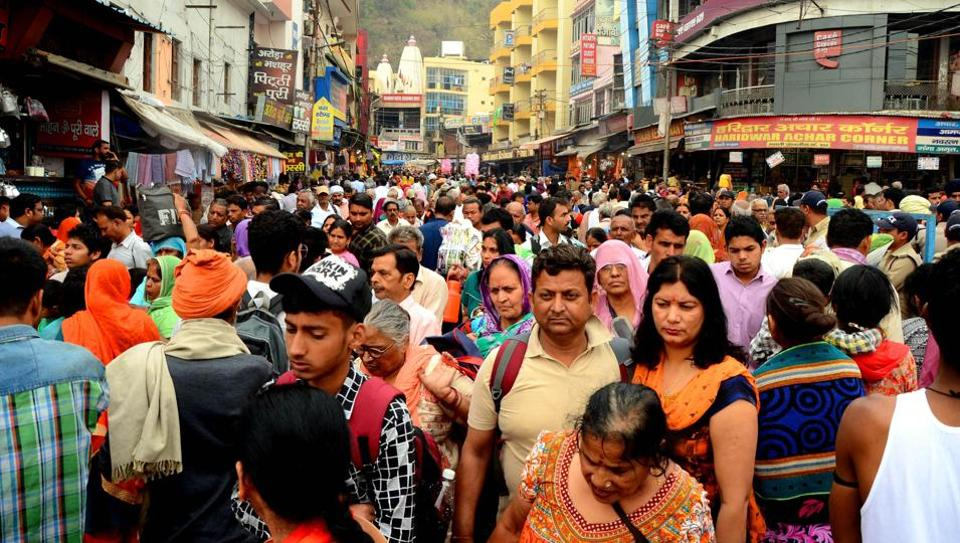 People throng Haridwar for the Char Dham pilgrimage.