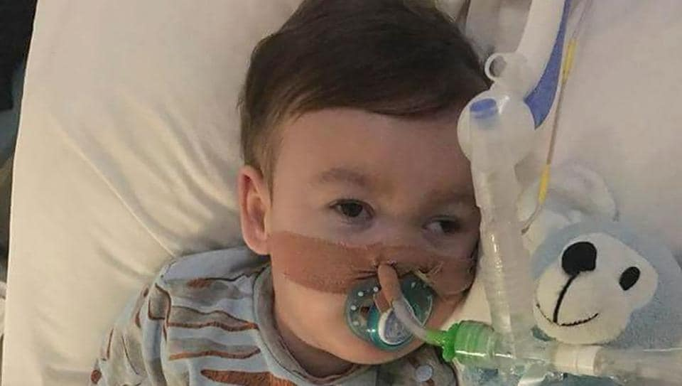 In this file photo taken on April 5 shows terminally ill British toddler Alfie Evans at Alder Hey Children's Hospital in Liverpool.
