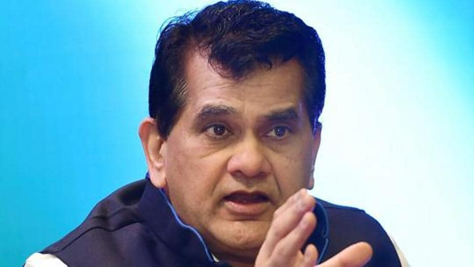 Niti Aayog CEO Amitabh Kant speaks at a panel discussion on 'The City that Never Sleeps : Cities of Tomorrow' during the last day of the Global Entrepreneurship Summit 2017 in Hyderabad.