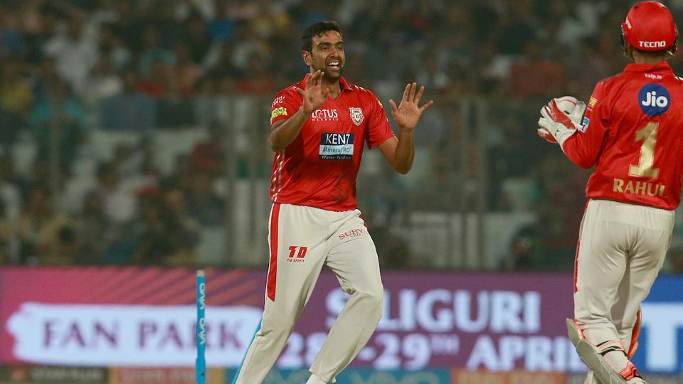 Kings XI Punjab skipper Ravichandran Ashwin celebrates after taking the wicket of Daniel Christian of Delhi Daredevils during their 2018 Indian Premier League (IPL 2018) match on Monday.  (BCCI)