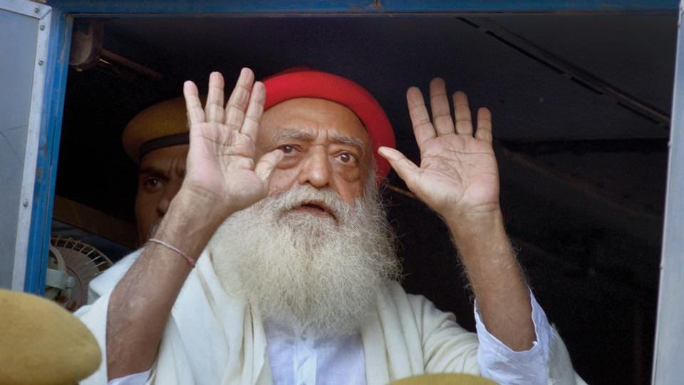 A Rajasthan court handed life imprisonment to self-styled godman Asaram for raping a teenage female devotee from Uttar Pradesh's Shahajahanpur at his ashram near Jodhpur in 2013. The special court also sentenced two others to 20 years each in jail amid stringent security, letting off two other accused. (PTI File)