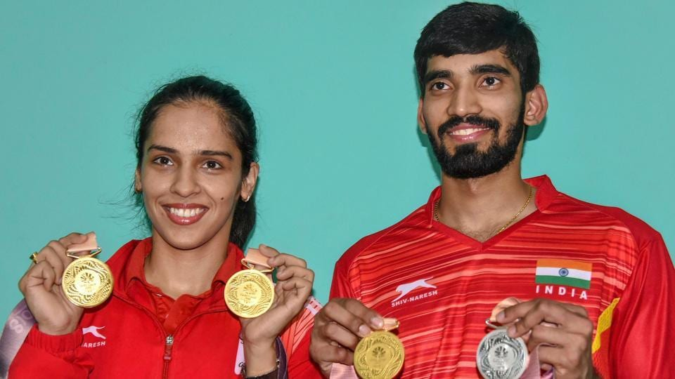 Saina Nehwal and Kidambi Srikanth won their opening matches at the Asia Badminton Championship on Wednesday.