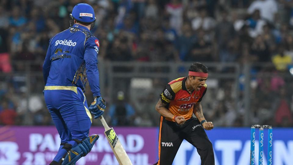 Siddarth Kaul took three wickets as Sunrisers Hyderabad defended 119  against Mumbai Indians to pile on the misery on Rohit Sharma's side.