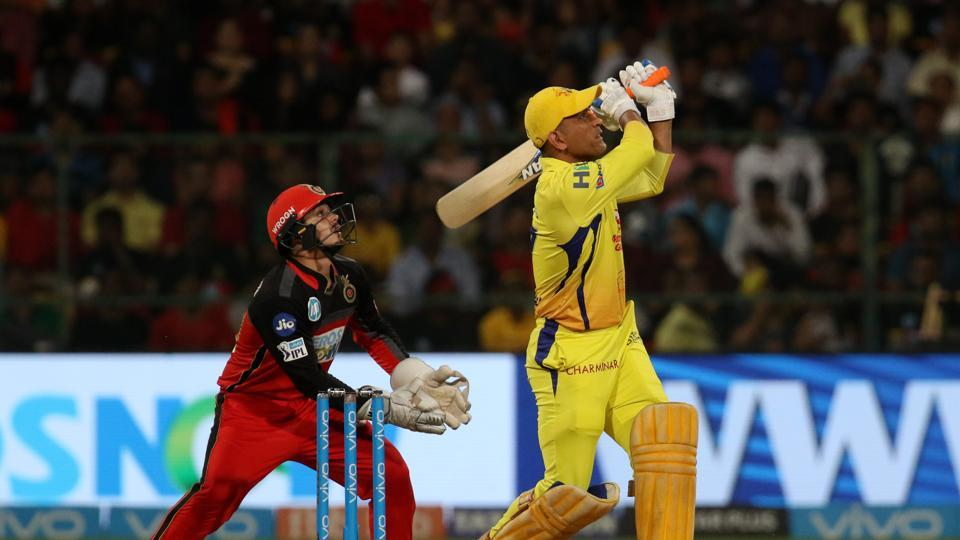 MS Dhoni plundered RCB bowlers at the Chinnaswamy. (IANS)