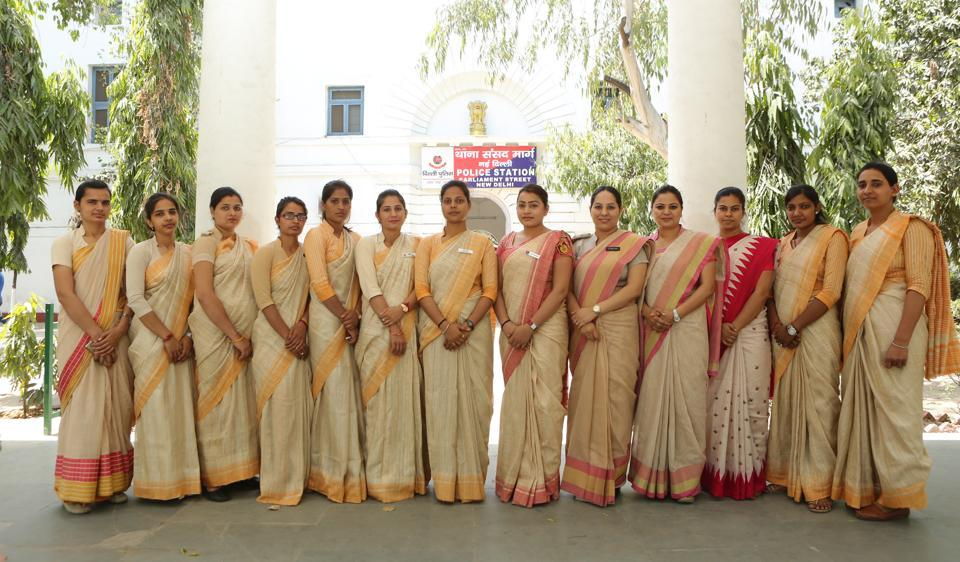 Delhi Police's public facilitation officers — constables trained in soft skills — will have beautiful saris from Benaras, for their uniform.