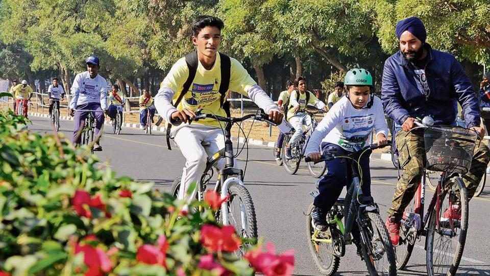 power to the pedal,Chandigarh cyclists,right track