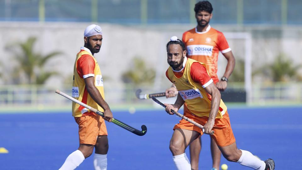 Sardar Singh (C) has been included in the probable list which will be pruned down to 48 after the camp concludes on May 18.
