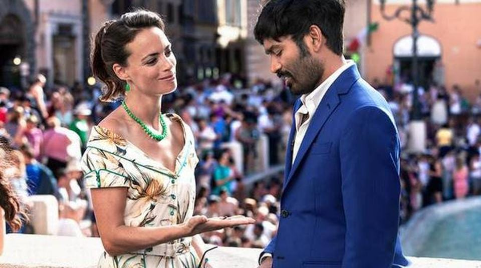 A still from the film The Extraordinary Journey of the Fakir starring Dhanush and Berenice Bejo.