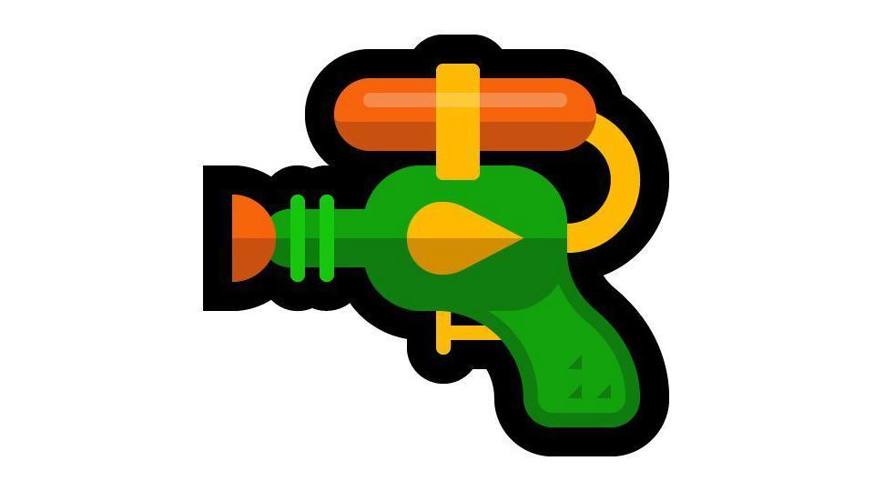 Microsoft emoji,Microsoft pistol emoji,Microsoft water gun emoji