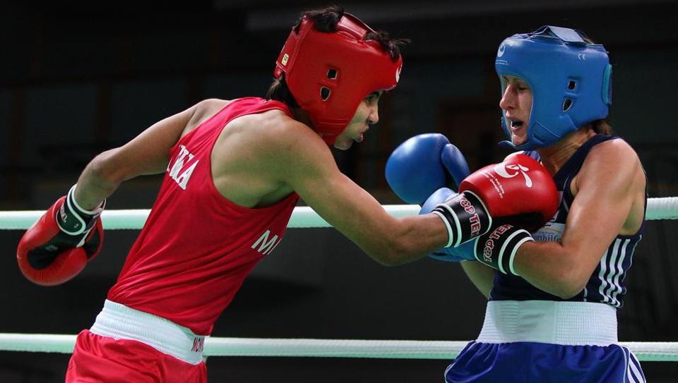 Sonia Lather (red) and Gaurav Bidhuri (not in picture) were nominated by the Boxing Federation of India (BFI) for this year's Arjuna Awards.