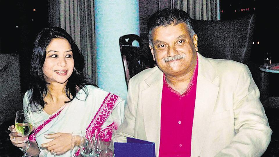 A file photo of Indrani Mukerjea and her husband Peter Mukerjea who married in 2002.