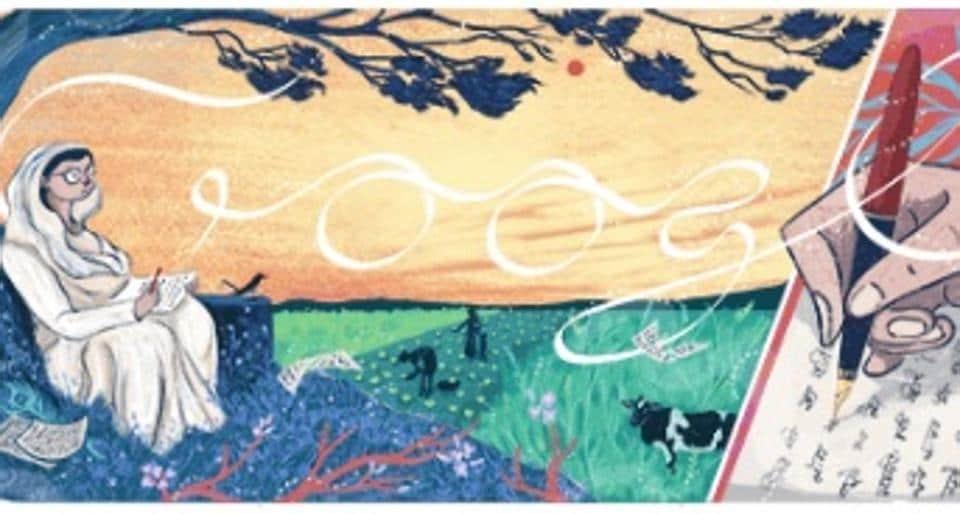 Google Doodle,Doodle,Mahadevi Varma