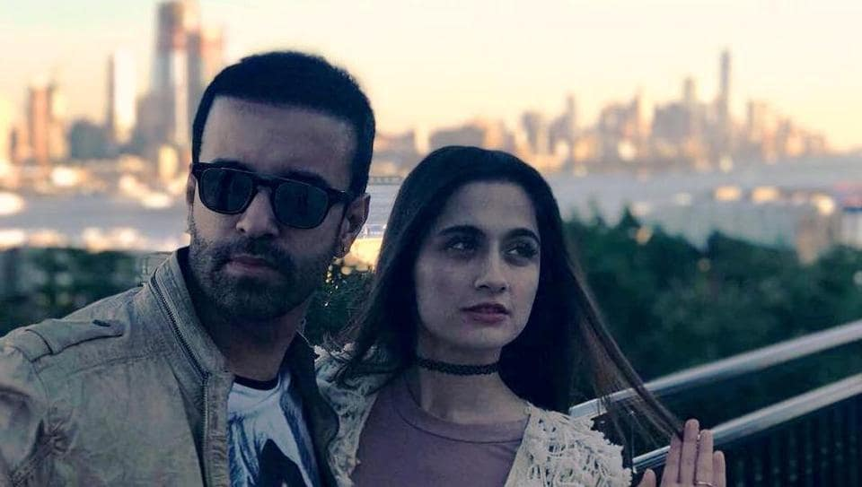 Sanjeeda Sheikh and Aamir Ali recently shot for a music video together.