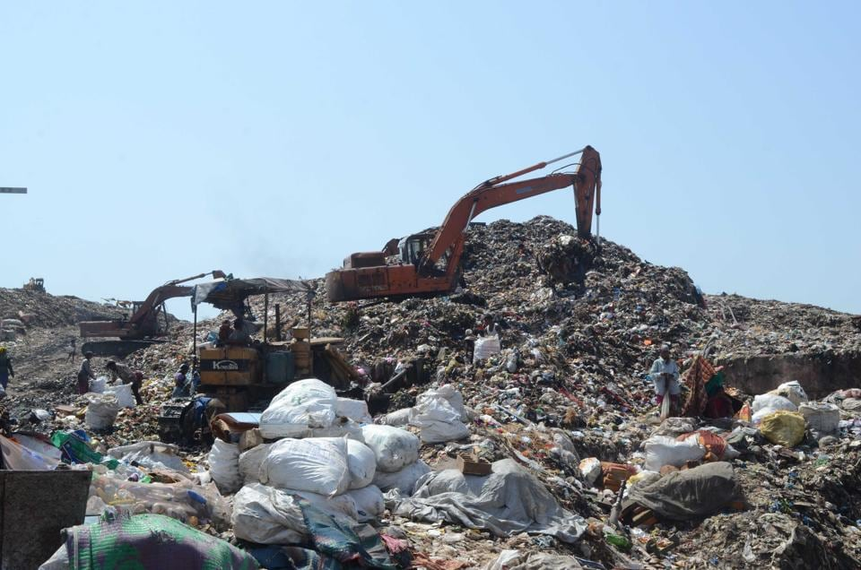 Adharwadi dumping ground in Kalyan (West).