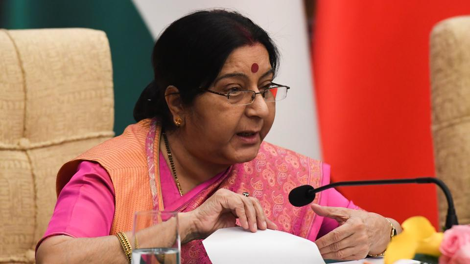 The Mi-4 helicopter and PT-76 tanks that India handed over to Bangladesh were part of gifts given by external affairs minister Sushma Swaraj (pictured) during her Bangladesh visit last year.