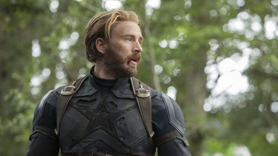 This image released by Disney shows Chris Evans in a scene from Marvel Studios' Avengers: Infinity War.