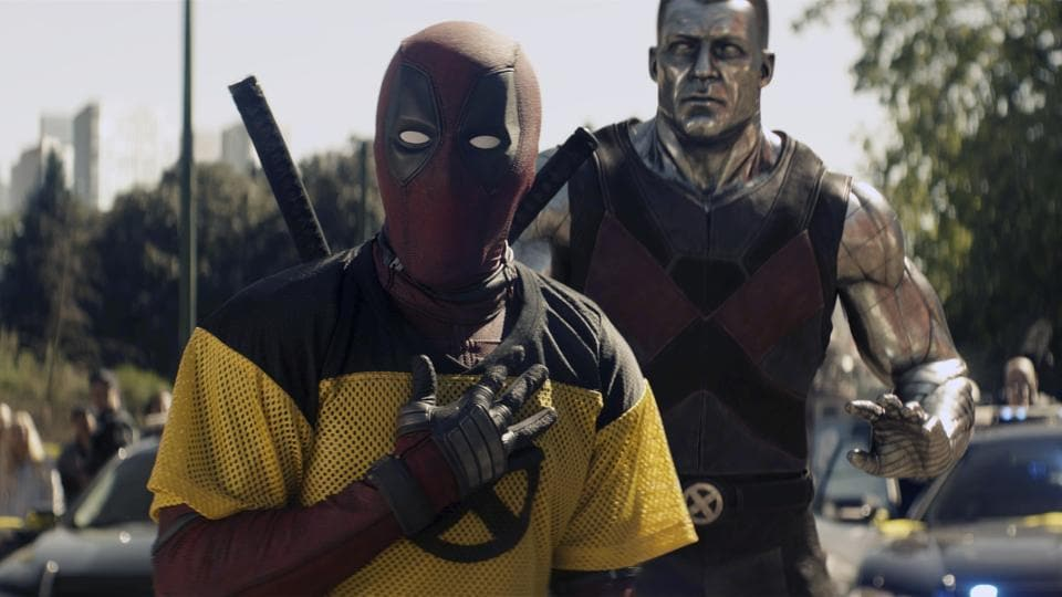 This image released by 20th Century Fox shows a scene from Deadpool 2, premiering on May 18.