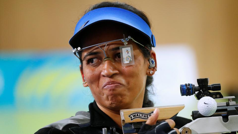 Tejaswini Sawant was not able to repeat her good form from the 2018 Commonwealth Games at the ISSF World Cup shooting in Changwon, Korea.