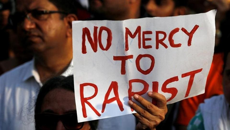 Protesters take out a rally against the rape of an eight-year-old girl in Kathua in Mumbai recently.