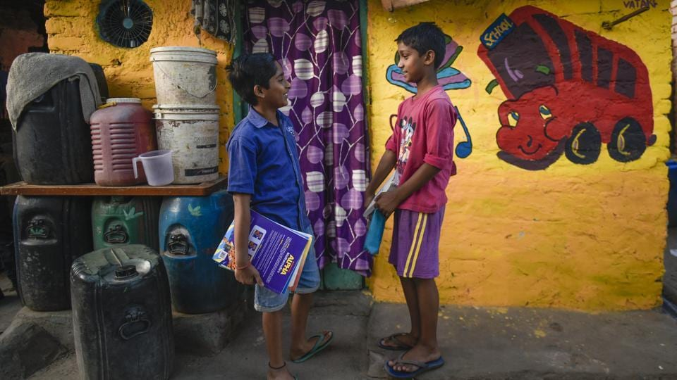 The Delhi based NGO believes in bringing emotional intelligence into the curriculum of Indian education for better social and emotional adjustment as part of the overall development of children and higher academic achievement. (Burhaan Kinu / HT Photo)