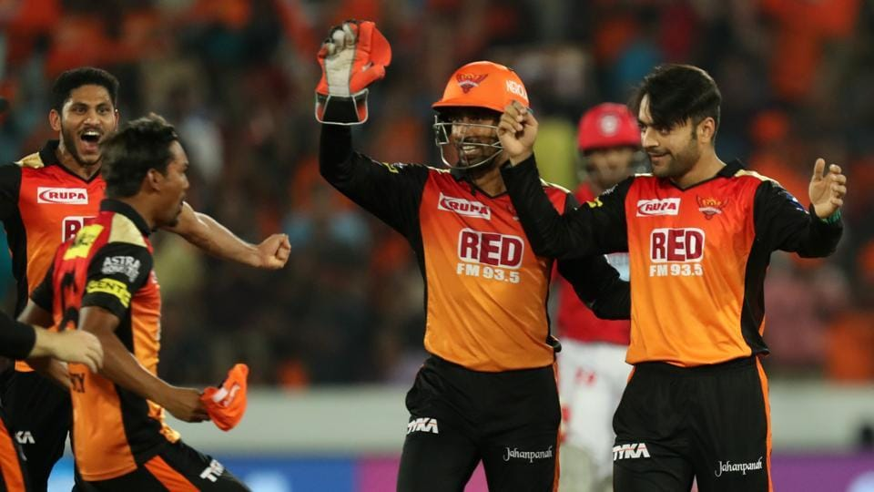 An all-round bowling show saw SRH bowl KXIP out for 119 and win by 13 runs. (BCCI)