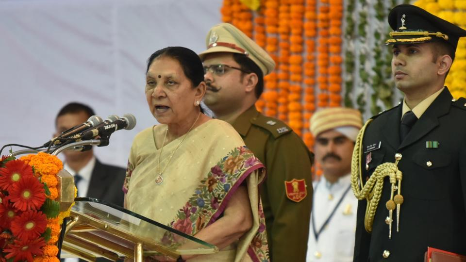 Anandiben Patel asks BJP to adopt poor kids for votes, Congress fumes