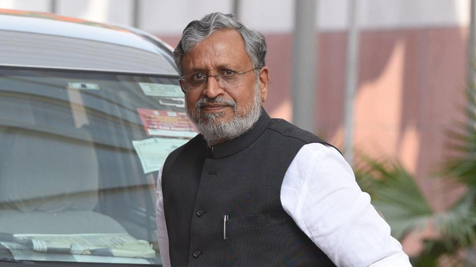 Bihar deputy chief minister Sushil Kumar Modi.