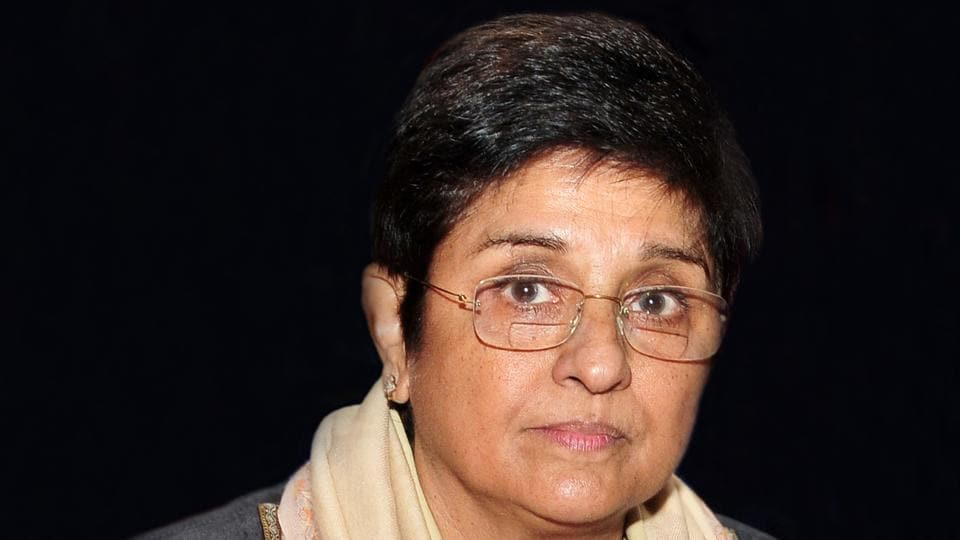 Afile photo of Puducherry Lt governor Kiran Bedi.