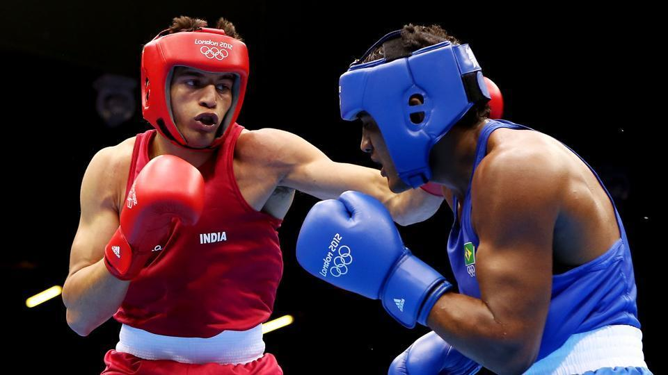 Sumit Sangwan of India (L) has entered the final of the Belgrade International.