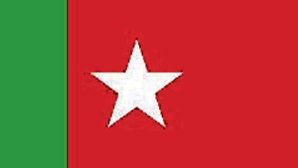 The Social Democratic Party of India flag.