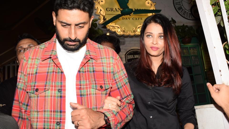 Actor Abhishek Bachchan with his wife Aishwarya Rai Bachchan.