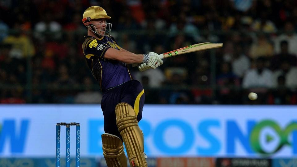 Chris Lynn in action during the Indian Premier League (IPL) 2018 between RoyalChallengers Bangalore and Kolkata Knight Riders in Bangalore.