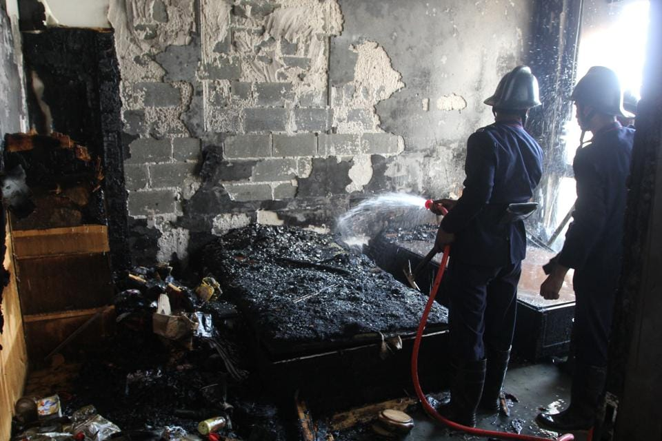 The fire started in the bedroom of the Thane apartment, which was a spare bedroom not in use by the occupant of the flat.