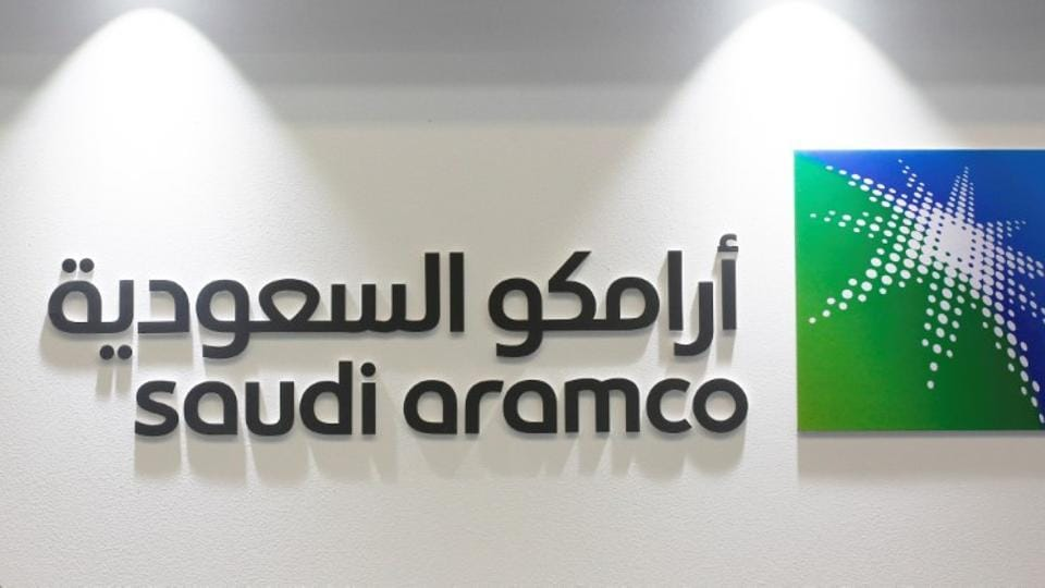 Logo of Saudi Aramco is seen at the 20th Middle East Oil & Gas Show and Conference (MOES 2017) in Manama, Bahrain, March 7, 2017.