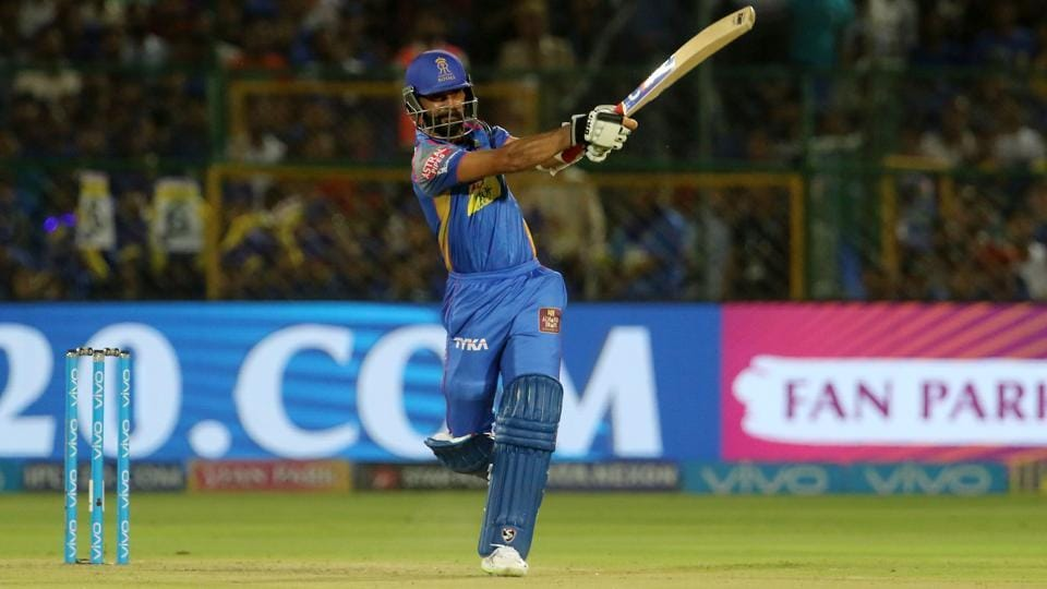 Ajinkya Rahane in action during match twenty eight of the 2018 Indian Premier League 2018 (IPL 2018) between Rajasthan Royals and Sunrisers Hyderabad at the Sawai Mansingh Stadium in Jaipur. Get full cricket score of Rajasthan Royals (RR) vs Sunrisers Hyderabad (SRH), IPL 2018 game, here