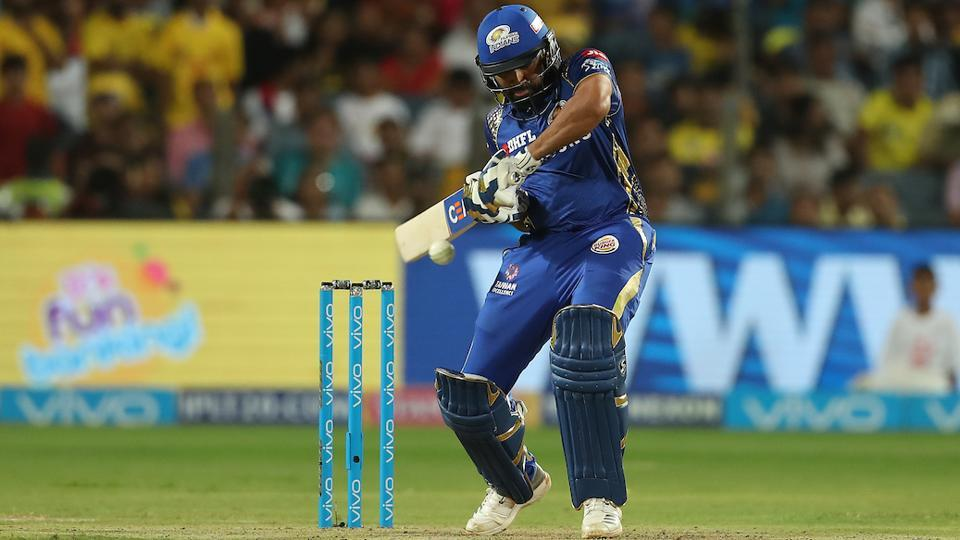 Skipper Rohit Sharma hit an unbeaten 56 to guide MI to an eight-wicket win. (BCCI)