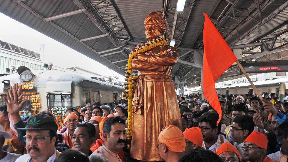 Billed as the biggest-ever gathering of heads of the Hindu community across the globe, World Hindu Congress (WHC) from September 7-9 will be held to commemorate 125 years of Swami Vivekananda's historic Chicago address on September 11, 1893. Heads of several countries with sizeable Hindu populations, chief ministers of states, corporate honchos and religious leaders are scheduled to attend the second WHC in Chicago. (PTI File)