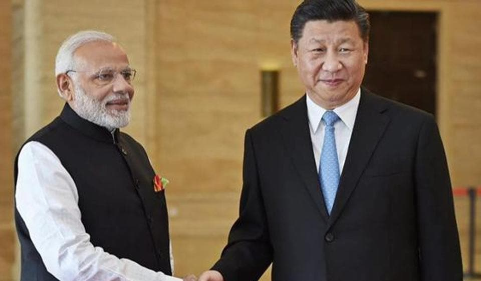 Prime Minister Narendra Modi and Chinese President Xi Jinping at the recent meeting.