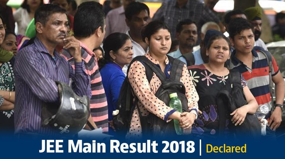 JEE Main result 2018: The JEE Main result was announced on April 30.