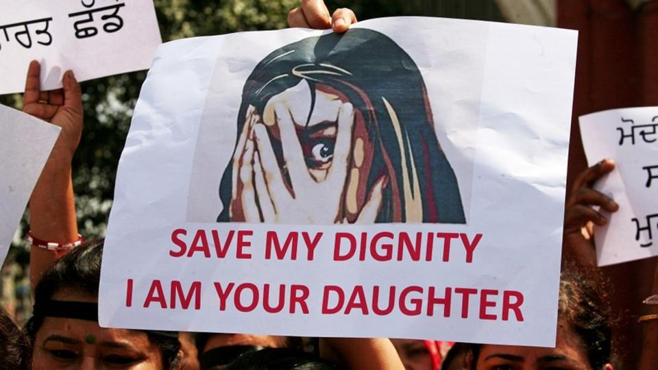 People take out anti-rape protests in Amritsar recently.