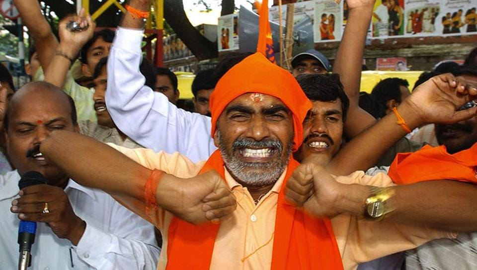 Workers of VHP and the Bajrang Dal have been tasked with door-to-door canvassing for the BJP.