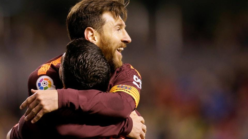 Lionel Messi hat-trick secured a thrilling 4-2 victory for FC Barcelona at Deportivo La Coruna on Sunday -- the Catalan side sealing its 25th La Liga title with the victory. Barca sealed the title with four matches to spare in the season. (REUTERS)