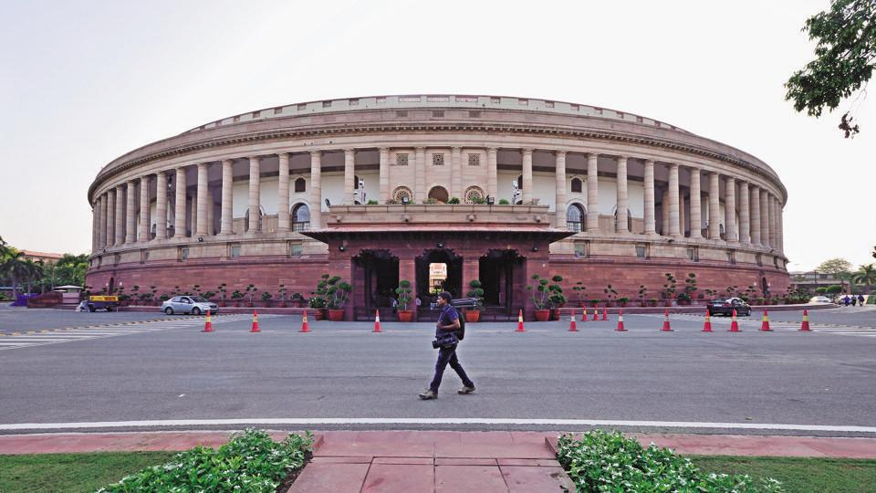 Parliament House of India at Sansad Marg, Janpath Building in New Delhi.