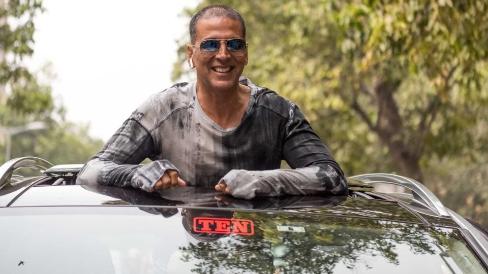 Bollywood actor Akshay Kumar in New Delhi during the promotion of the film Pad Man.
