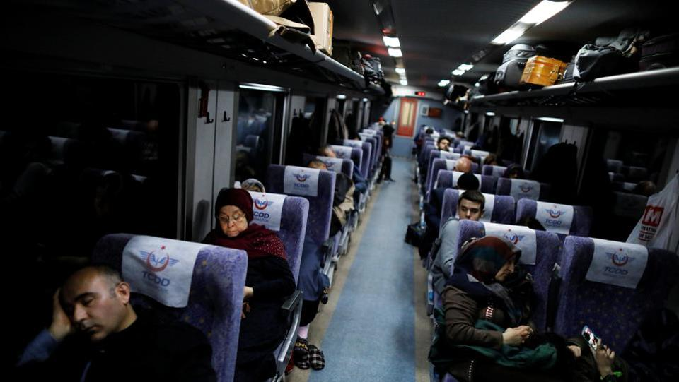 The Eastern Express features seated and sleeping coaches with toilets, a mini refrigerator and a table. Apart from some locals attracted by the cheap fares, who take the train for a short distance between stations, most passengers now are people from far corners of Turkey making the full trip between Ankara and Kars. (Umit Bektas / REUTERS)