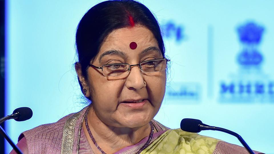 Sushma Swaraj,London travel,Visa