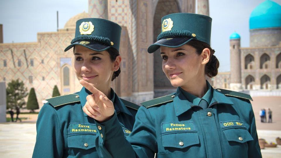 Identical twins Zukhra and Fatima Rakhmatova are members of the Tourist Police.