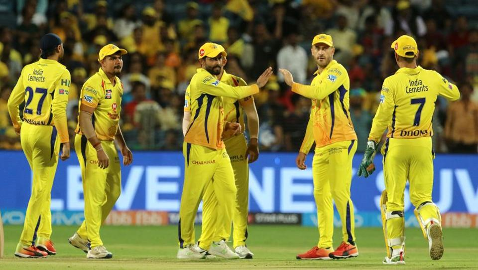 Chennai Super Kings players celebrate the wicket of Prithvi Shaw during match thirty of the 2018 Indian Premier League 2018 (IPL 2018) between Chennai Super Kings and Delhi Daredevils at the Maharashtra Cricket Association Cricket Stadium, Pune. Follow highlights of Chennai Super Kings (CSK) vs (DD) Delhi Daredevils, Indian Premier League (IPL) 2018 match at the Maharashtra Cricket Association Stadium, Pune here